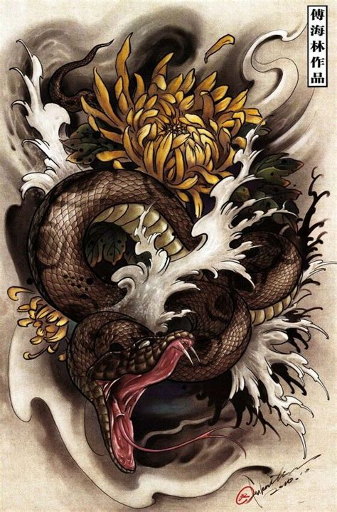 japanese snake tattoo designs 98 best ideas about 뱀 on pen cobra
