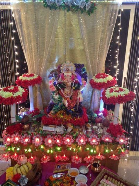 pooja decorations at home ganpati decoration ideas at home ganesh pooja decoration
