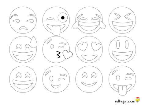 imagenes de emojis para dibujar emoticonos para colorear colecci 243 n de 12 dibujos 800x600