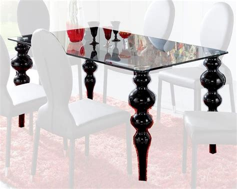 modern black glass dining table modern glass top dining table european design made in