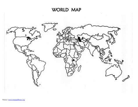 World Template 8 best images of world map printable template printable