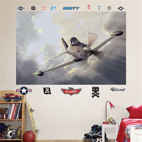 disney planes wall mural dusty mural wall decal shop fathead 174 for disney pixar planes decor