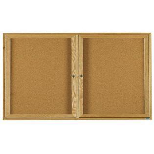 Aarco Obc3672 3r 3 Door Enclosed Bulletin Board With Oak
