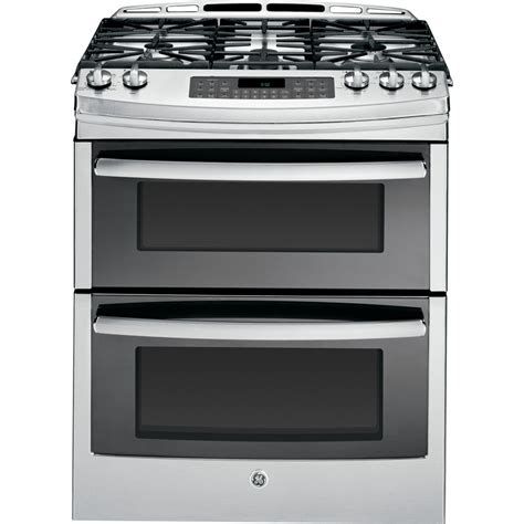 ge profile gas range shop ge profile 5 burner 6 8 cu ft self cleaning slide in convection gas range stainless steel