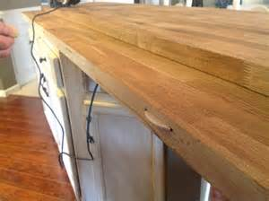 Kitchen Island Countertop Overhang by Diy Kitchen Island Makeover Blogher
