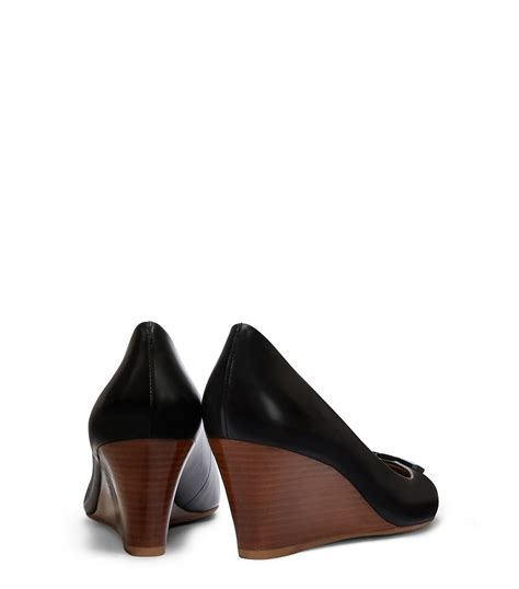 Burch Shoes Lowell Wedge burch lowell wedge in black lyst