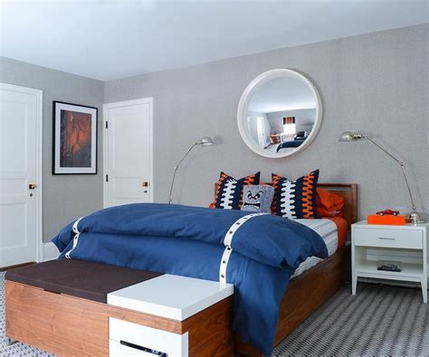rugs for boys bedroom blue and orange boys bedroom with gray rug contemporary boy s room
