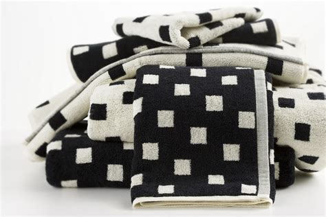 black and white bathroom towels hotel luxury collection black and cream squares bath
