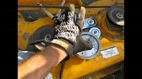 cub cadet mower belt coming  deck fix lt  part