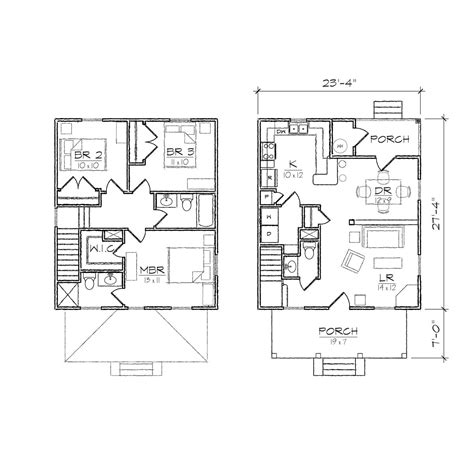 small square house plans four square i prairie floor plan tightlines designs
