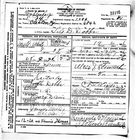Greenville County Death Records - Death Certificates Do