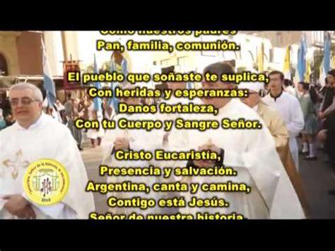 Letra Del Himno Al Congreso Eucaristico Tucuman 2016 | himno del congreso eucar 237 stico 2016 tucum 225 n doovi