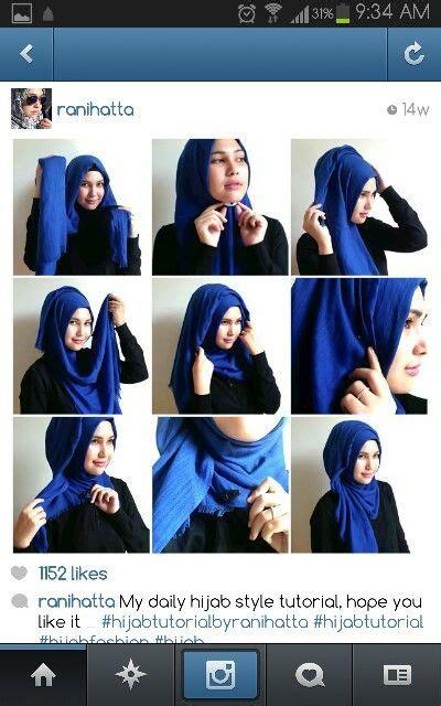 hijab tutorial quick ranihatta quick easy hijab tutorial hijabss pinterest