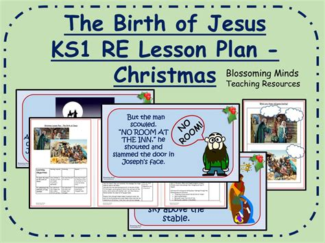 ks1 re lesson the birth of jesus by