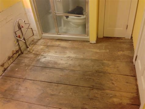 wood floor in bathroom 1790s wood floor in a bathroom flooring contractor talk