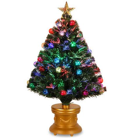 decorated fiber optic tree national tree company 3 pre lit led fiber optic and