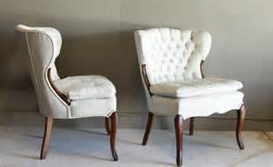 white painted tufted chair 2 the reserve vintage rentals
