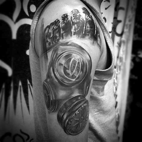 100 gas mask tattoos for men youtube 100 gas mask designs for breath of fresh ideas