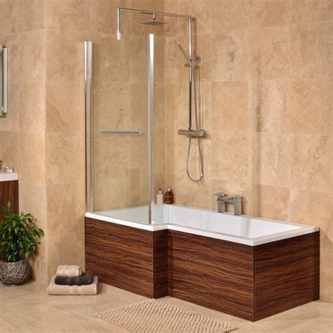 l shaped bathtub walnut 1670 x 850 left hand l shaped shower bath with