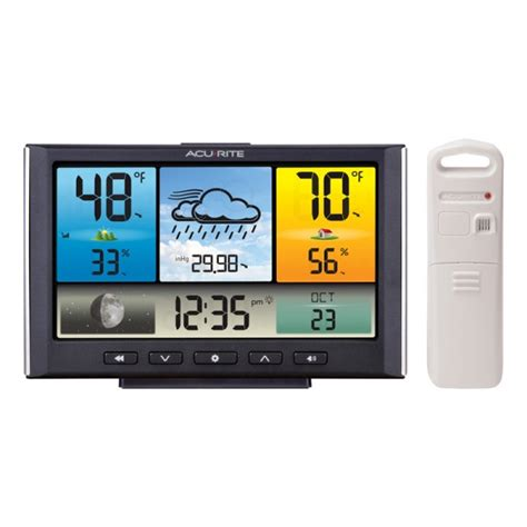 acurite color weather station digital weather station weather clock with color display