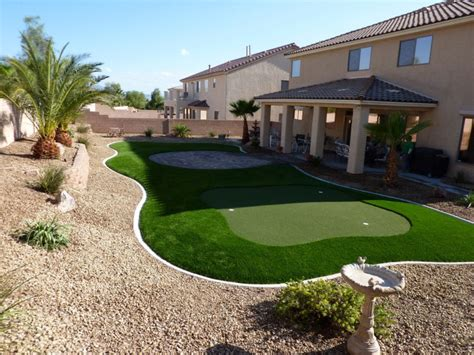 nevada backyard artificial grass pavers desert greenscapes serving