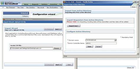 manageengine csv format help desk it asset management screenshots manageengine