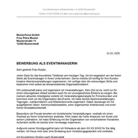 Muster Einladung Bewerber Bewerbung Als Eventmanager Eventmanagerin Bewerbung Co