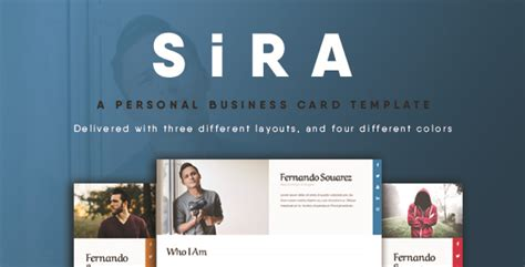 themeforest visiting card sira personal business card template by linxtheme
