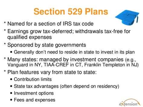 section 529 plan contribution limits paying for post secondary education expenses