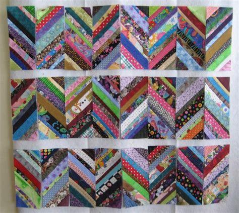 Herringbone Quilt Pattern by Tutorial Scrappy Herringbone Quilt Block Quilting