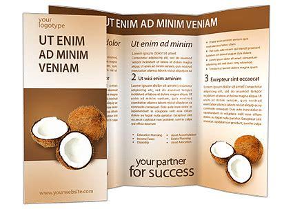 coconut card template coconuts brochure template design id 0000001494