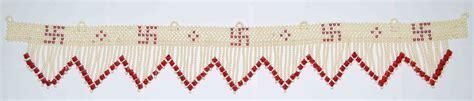 Handmade Toran - exclusive swastik decorative toran t3 zig zag by sai