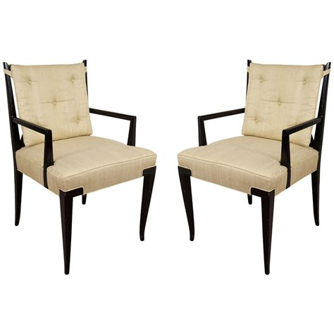 Pair Of Dining Chairs Midcentury Pair Of X Dining Chairs By Tommi Parzinger At 1stdibs