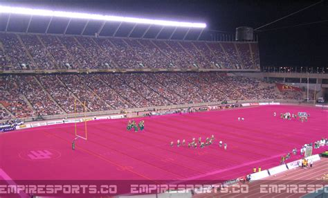 colored football fields canadian football league introduces metric football field