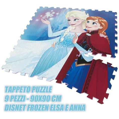 puzzle gomma per pavimento puzzle tappeto pavimento in gomma disney frozen 9 pezzi