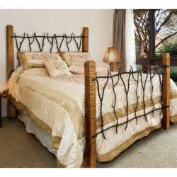 Wrought Iron Bed Rustic South Fork Wrought Iron And Wood Bed Or King