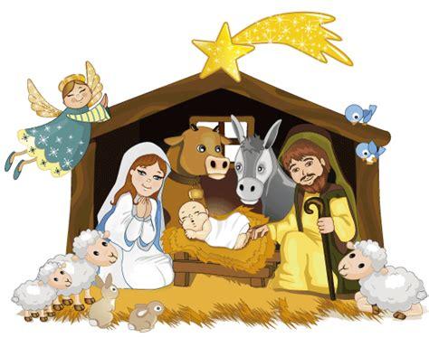 imagenes del nacimiento de jesus en dibujos animados portal de bel 233 n con animalitos vector clipart
