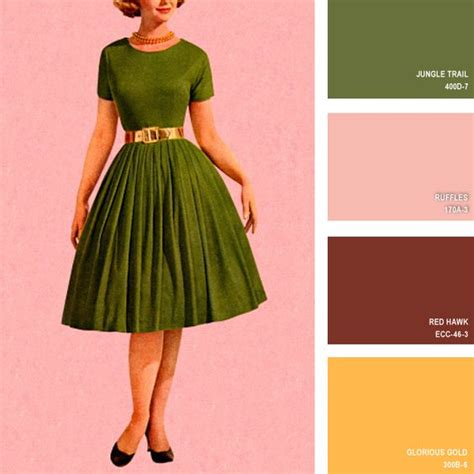 16 beautiful color palettes inspired by retro fashion