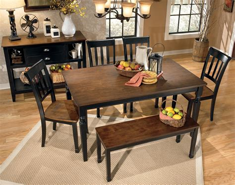 Owingsville Dining Room Bench Signature Design By Owingsville Large Dining Room