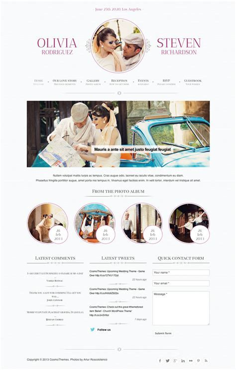 Best Free & Premium Wedding Website Templates   Web