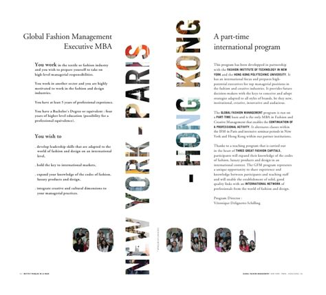 Management Executive Mba by Global Fashion Management Executive Mba