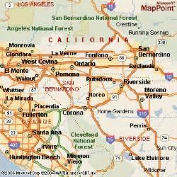 rancho cucamonga california map