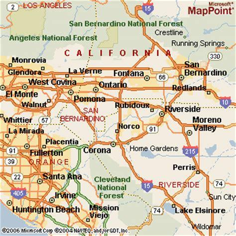 california map rancho cucamonga rancho cucamonga california map