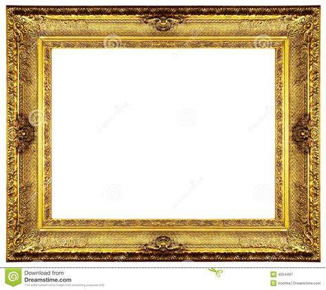 Gold Frame Border Clip Art Chipped Vintage Gold Ornate Frame Isolated On White Clip Art Photo Frame Template
