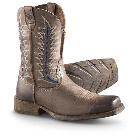 ariat s rambler boots s ariat rambler flint cowboy boots rustic shadow