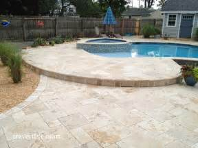 Travertine Patio Pavers Walnut Travertine Pavers Traditional Patio Other Metro By Travertine Mart