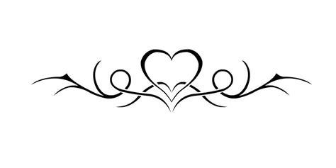 heart tribal lower back tattoos tribal lower back design