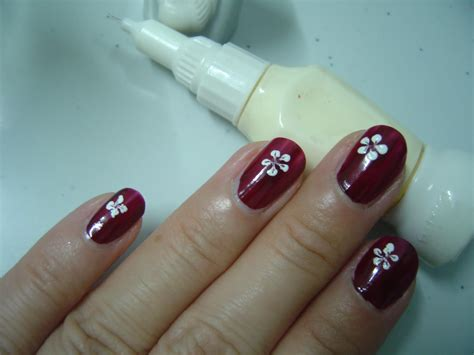 Simple Nail Images by Evening Lavender Floral Nail Design