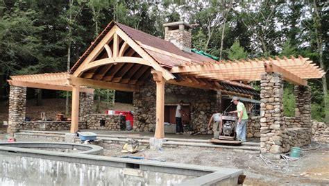 Beautiful Wood Frame House Kits 1 Timber Frame Pool Timber Frame Pool House Plans