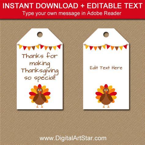 printable turkey gift tags printable thanksgiving tags editable thanksgiving party